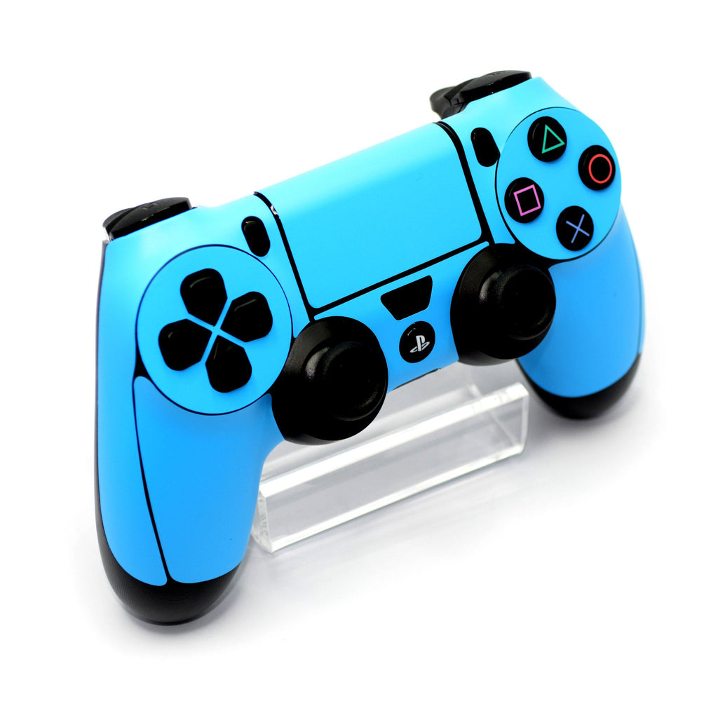ps4 controller blue matt skin