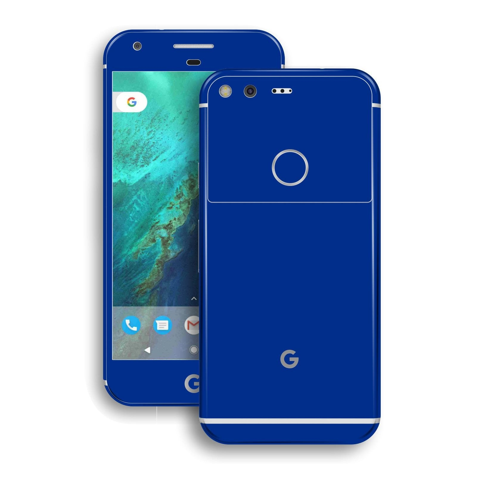 Google Pixel XL Glossy Royal Blue Skin Wrap Decal by EasySkinz
