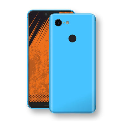 Google Pixel 3 XL Blue Matt Skin, Decal, Wrap, Protector, Cover by EasySkinz | EasySkinz.com