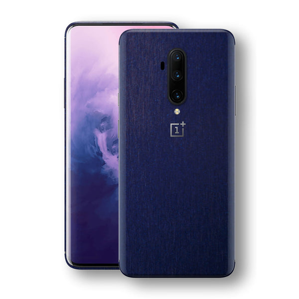 OnePlus 7T PRO Brushed Blue Metallic Metal Skin, Decal, Wrap, Protector, Cover by EasySkinz | EasySkinz.com