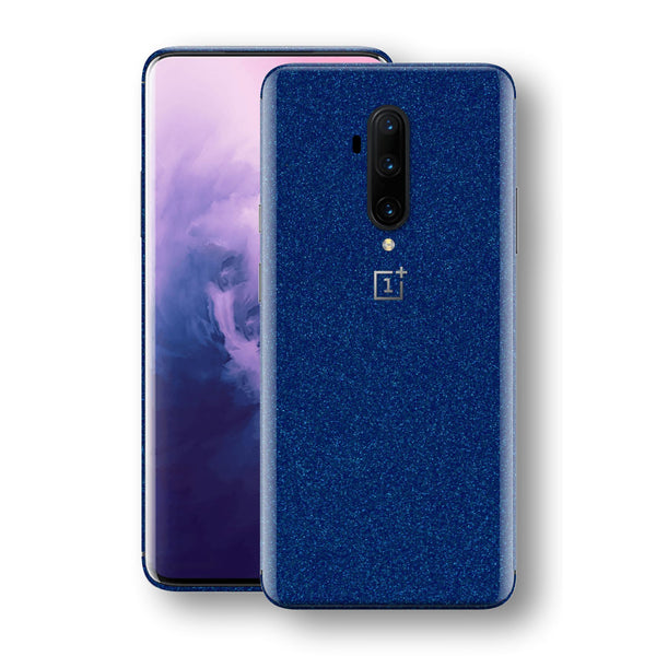 OnePlus 7T PRO Diamond BLUE Shimmering, Sparkling, Glitter Skin, Decal, Wrap, Protector, Cover by EasySkinz | EasySkinz.com