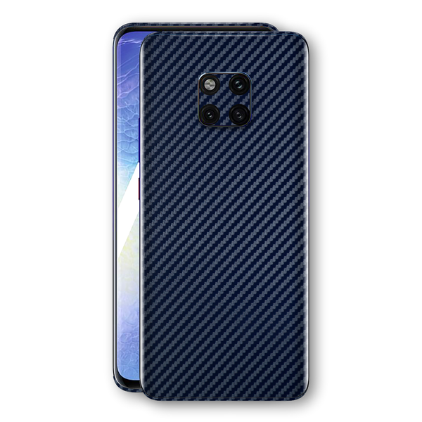 Huawei MATE 20 PRO 3D Textured Navy Blue Carbon Fibre Fiber Skin, Decal, Wrap, Protector, Cover by EasySkinz | EasySkinz.com
