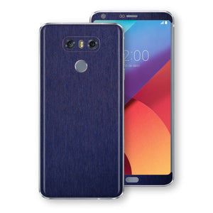 LG G6 Brushed Blue Metallic Metal Skin, Decal, Wrap, Protector, Cover by EasySkinz | EasySkinz.com