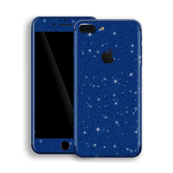 iPhone 8 Plus Diamond Blue Shimmering, Sparkling, Glitter Skin, Decal, Wrap, Protector, Cover by EasySkinz | EasySkinz.com
