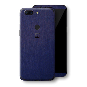 OnePlus 5T Brushed Blue Metallic Metal Skin, Decal, Wrap, Protector, Cover by EasySkinz | EasySkinz.com