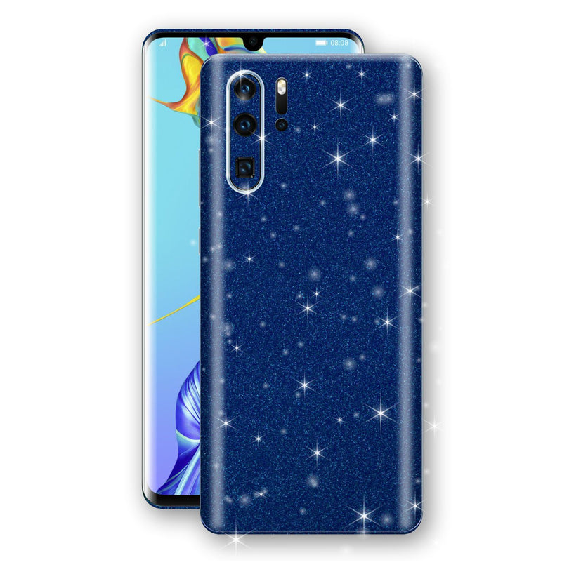 Huawei P30 PRO Diamond Blue Shimmering, Sparkling, Glitter Skin, Decal, Wrap, Protector, Cover by EasySkinz | EasySkinz.com