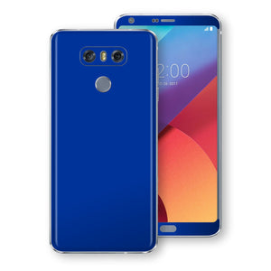 LG G6 Royal Blue Glossy Gloss Finish Skin, Decal, Wrap, Protector, Cover by EasySkinz | EasySkinz.com