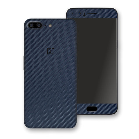 OnePlus 5 3D Textured Navy Blue Carbon Fibre Fiber Skin, Decal, Wrap, Protector, Cover by EasySkinz | EasySkinz.com