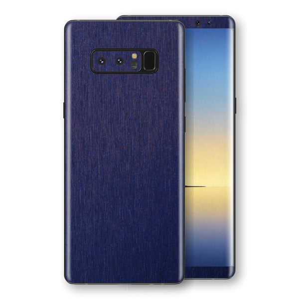 Samsung Galaxy NOTE 8 Brushed Blue Metallic Metal Skin, Decal, Wrap, Protector, Cover by EasySkinz | EasySkinz.com