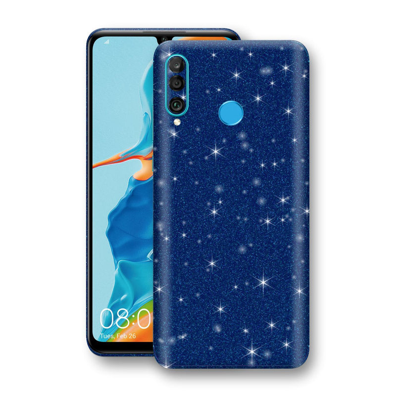Huawei P30 LITE Diamond Blue Shimmering, Sparkling, Glitter Skin, Decal, Wrap, Protector, Cover by EasySkinz | EasySkinz.com