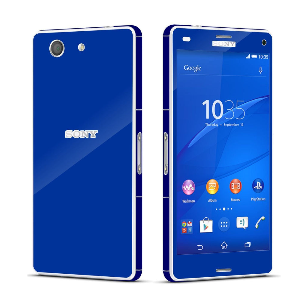 Sony Xperia Z3 COMPACT Royal Blue Glossy Skin Wrap Sticker Cover Decal Protector By EasySkinz