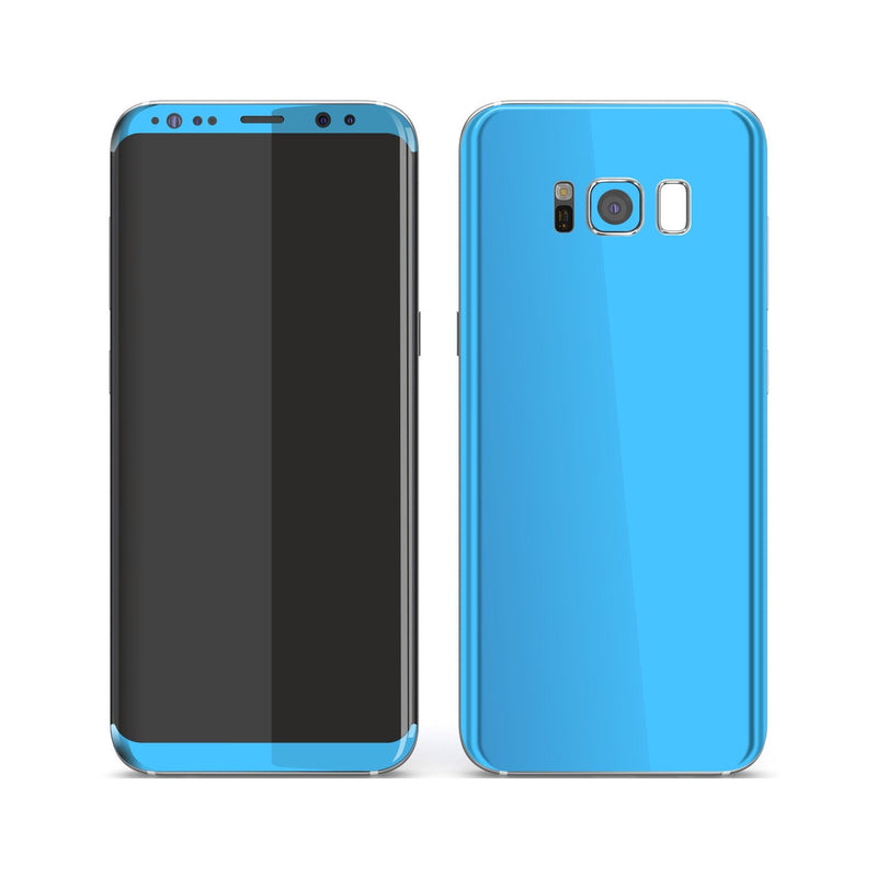 Samsung Galaxy S8 Blue Matt Skin, Decal, Wrap, Protector, Cover by EasySkinz | EasySkinz.com