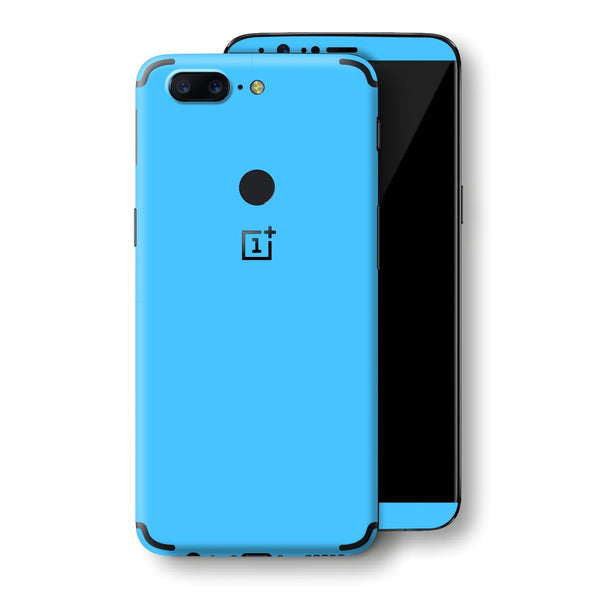 OnePlus 5T Blue Matt Skin, Decal, Wrap, Protector, Cover by EasySkinz | EasySkinz.com