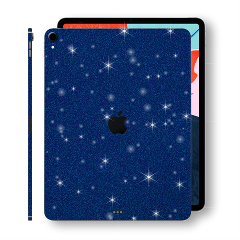 "iPad PRO 11"" inch 2018 Diamond BLUE Glitter Shimmering Skin Wrap Sticker Decal Cover Protector by EasySkinz"