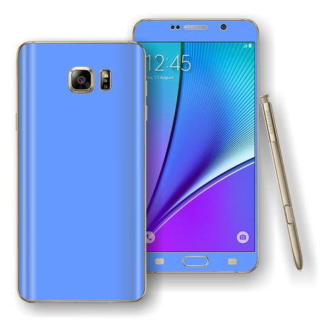 Samsung Galaxy NOTE 5 Blue Matt Skin Wrap Decal Cover Protector by EasySkinz