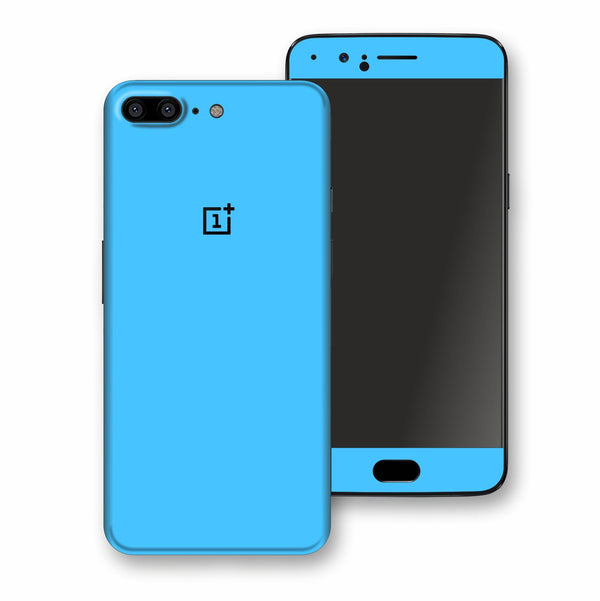 OnePlus 5 Blue Matt Skin, Decal, Wrap, Protector, Cover by EasySkinz | EasySkinz.com