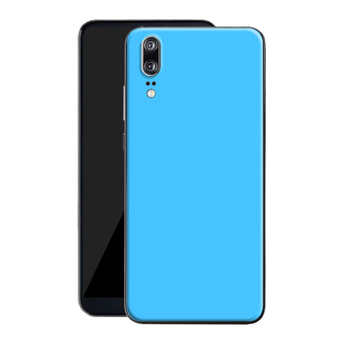 Huawei P20 Blue Matt Skin, Decal, Wrap, Protector, Cover by EasySkinz | EasySkinz.com