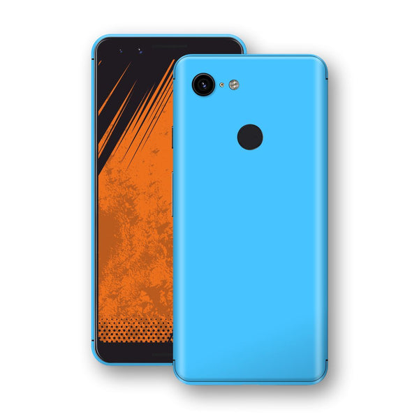 Google Pixel 3 Blue Matt Skin, Decal, Wrap, Protector, Cover by EasySkinz | EasySkinz.com