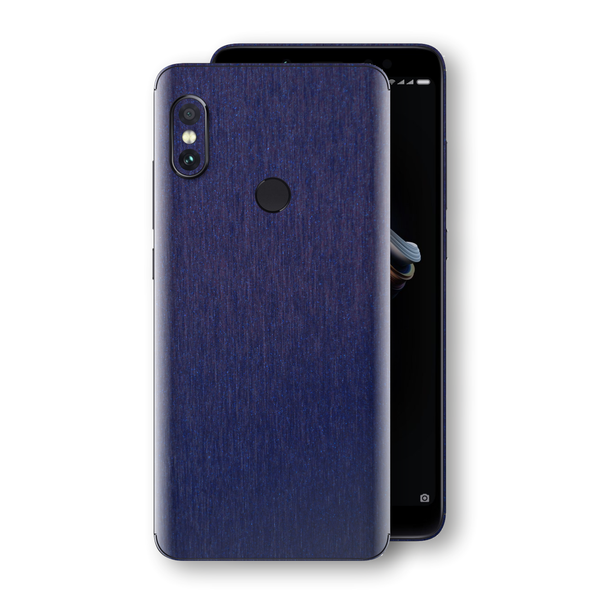 XIAOMI Redmi NOTE 5 Brushed Blue Metallic Metal Skin, Decal, Wrap, Protector, Cover by EasySkinz | EasySkinz.com