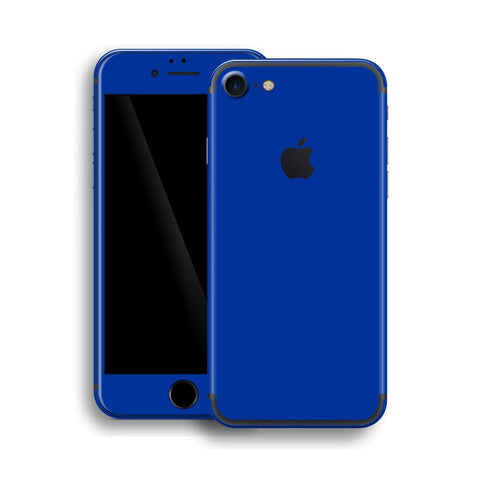 iPhone 7 Glossy Royal Blue Skin, Wrap, Decal, Protector, Cover by EasySkinz | EasySkinz.com