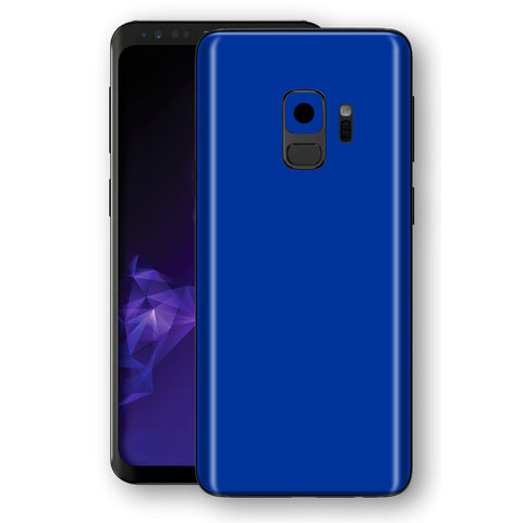 Samsung GALAXY S9 Royal Blue Glossy Gloss Finish Skin, Decal, Wrap, Protector, Cover by EasySkinz | EasySkinz.com