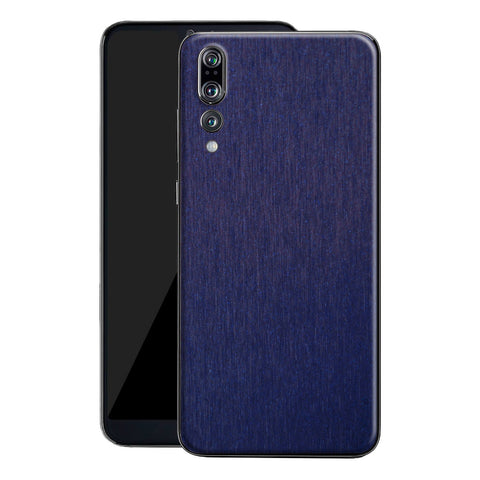 Huawei P20 PRO Brushed Blue Metallic Metal Skin, Decal, Wrap, Protector, Cover by EasySkinz | EasySkinz.com