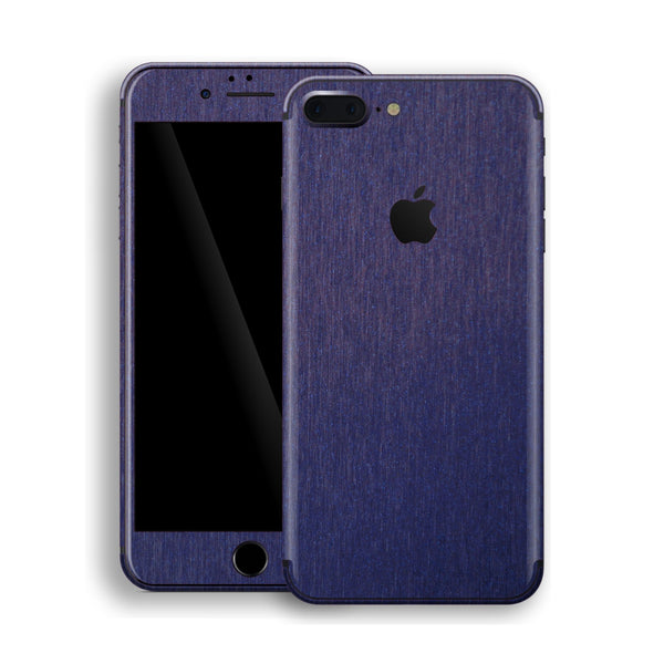 iPhone 8 Plus Brushed Blue Metallic Skin, Decal, Wrap, Protector, Cover by EasySkinz | EasySkinz.com