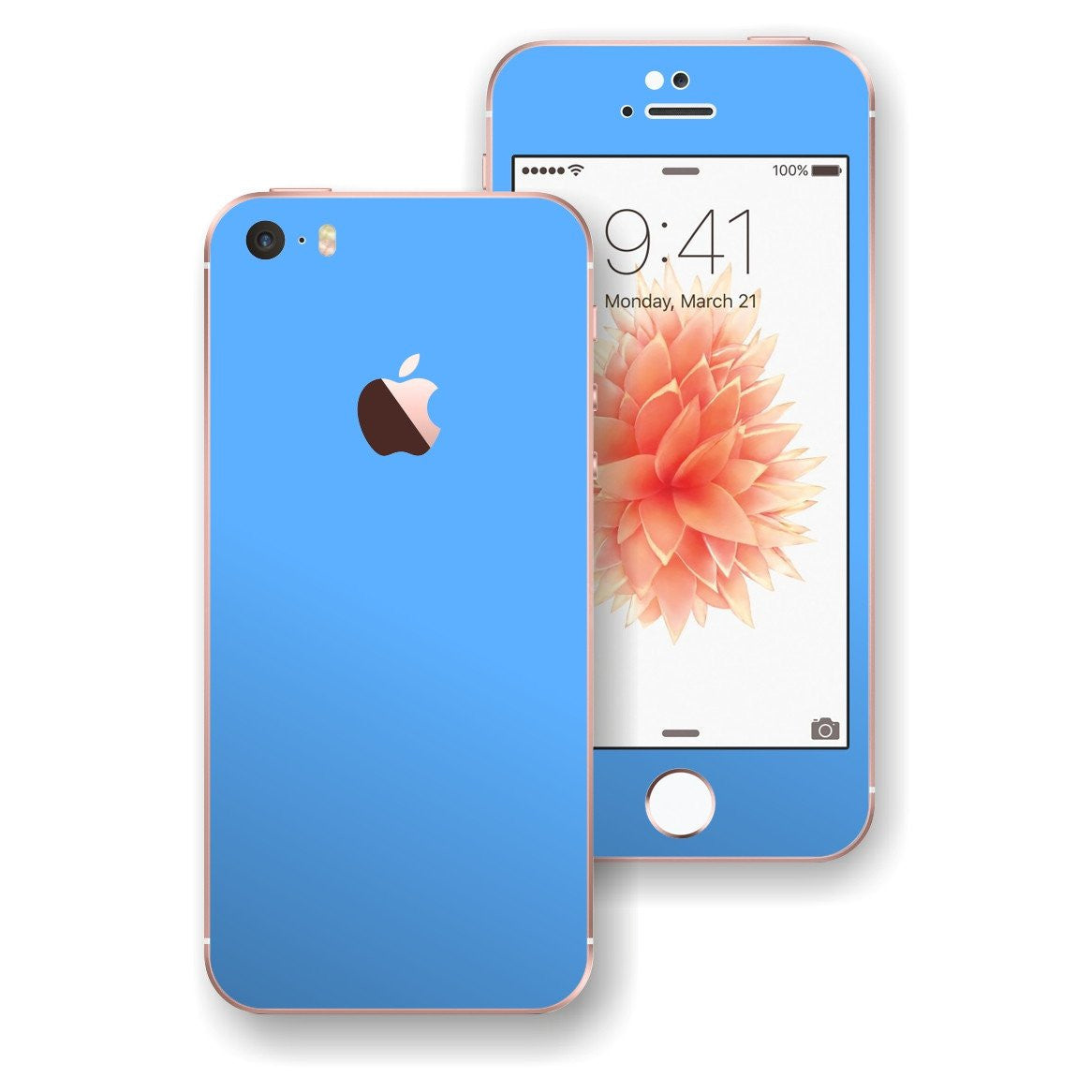 iPhone SE MATT Matte BLUE Skin Wrap Decal Sticker Cover Protector by EasySkinz