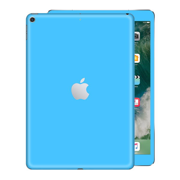 iPad 9.7 inch 2017 Matt Matte Blue Skin Wrap Sticker Decal Cover Protector by EasySkinz