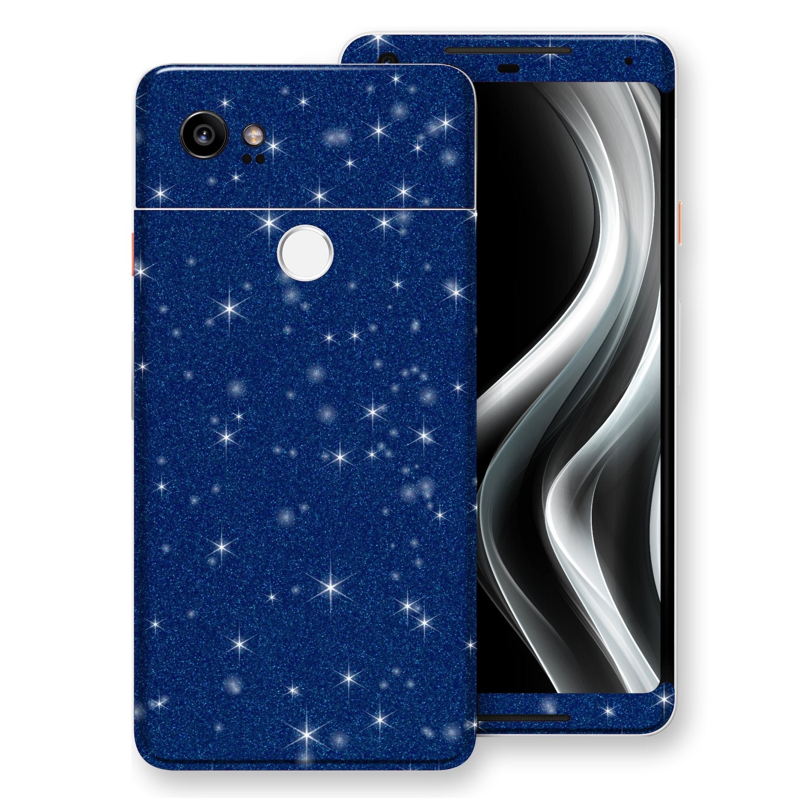 Google Pixel 2 XL Diamond Blue Shimmering, Sparkling, Glitter Skin, Decal, Wrap, Protector, Cover by EasySkinz | EasySkinz.com