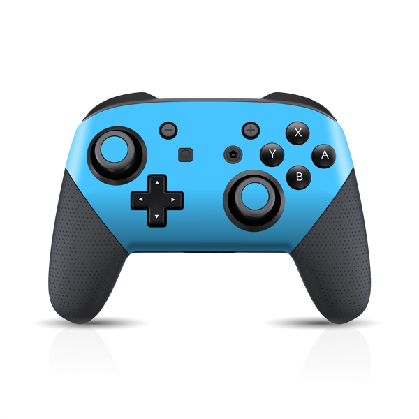 Nintendo Switch Pro CONTROLLER Matt Matte Blue Skin Wrap Sticker Decal Cover Protector by EasySkinz
