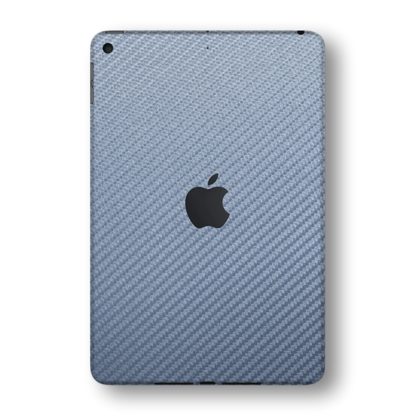 iPad MINI 5 (5th Generation 2019) Arctic Blue 3D Textured CARBON Fibre Fiber Skin Wrap Sticker Decal Cover Protector by EasySkinz