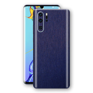 Huawei P30 PRO Brushed Blue Metallic Metal Skin, Decal, Wrap, Protector, Cover by EasySkinz | EasySkinz.com