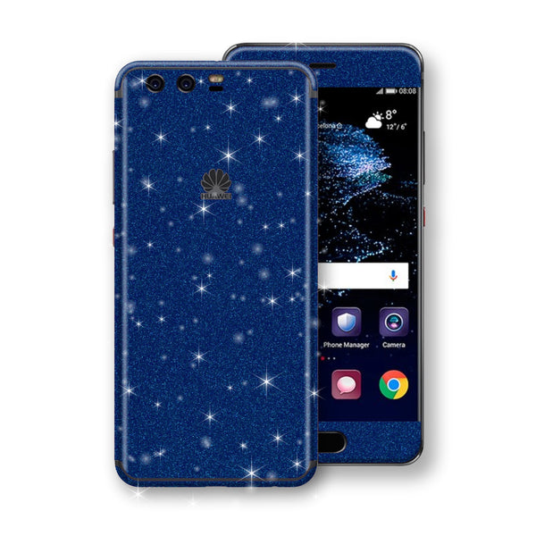 Huawei P10+ PLUS  Diamond Blue Shimmering, Sparkling, Glitter Skin, Decal, Wrap, Protector, Cover by EasySkinz | EasySkinz.com