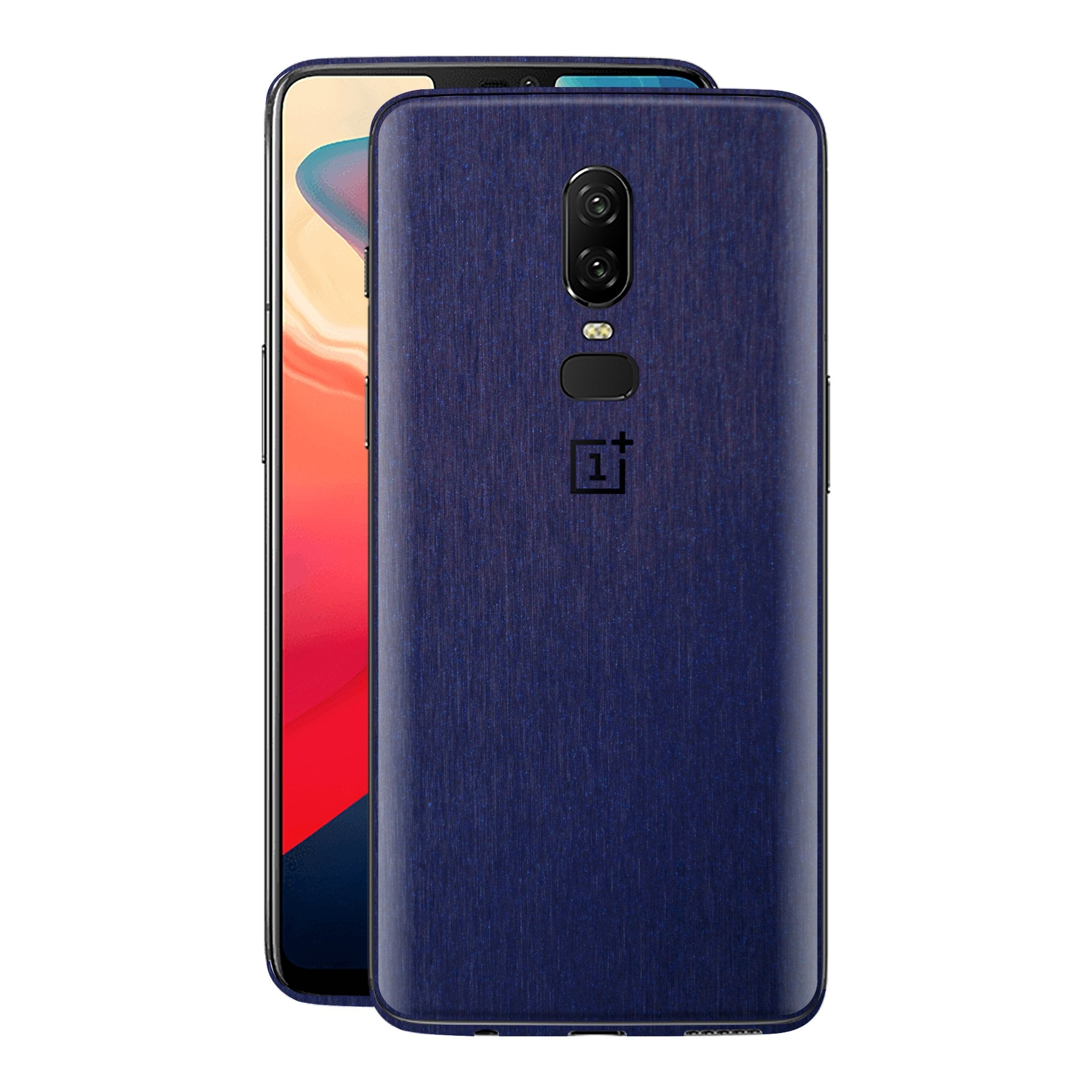 OnePlus 6 Brushed Blue Metallic Metal Skin, Decal, Wrap, Protector, Cover by EasySkinz | EasySkinz.com