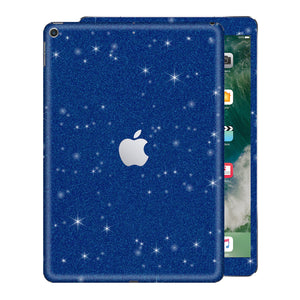 "iPad 9.7"" inch 5th Generation 2017 Diamond Blue Glitter Shimmering Skin Wrap Sticker Decal Cover Protector by EasySkinz"