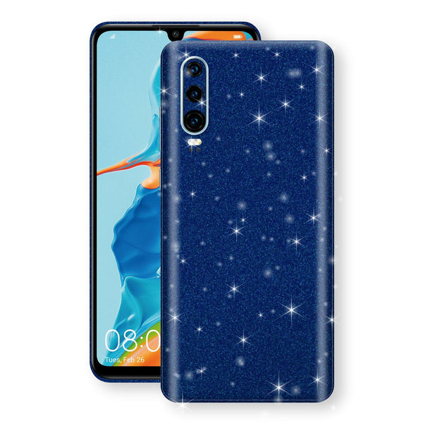 Huawei P30 Diamond Blue Shimmering, Sparkling, Glitter Skin, Decal, Wrap, Protector, Cover by EasySkinz | EasySkinz.com