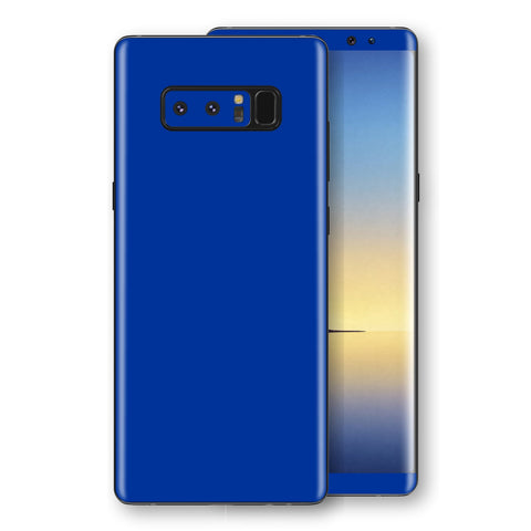 Samsung Galaxy NOTE 8 Royal Blue Glossy Gloss Finish Skin, Decal, Wrap, Protector, Cover by EasySkinz | EasySkinz.com