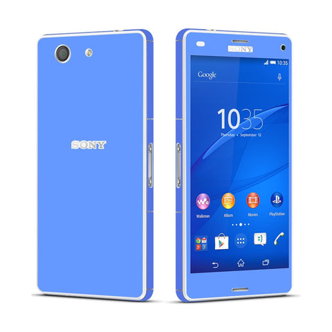 Sony Xperia Z3 COMPACT Blue Matt Skin Wrap Sticker Cover Decal Protector By EasySkinz