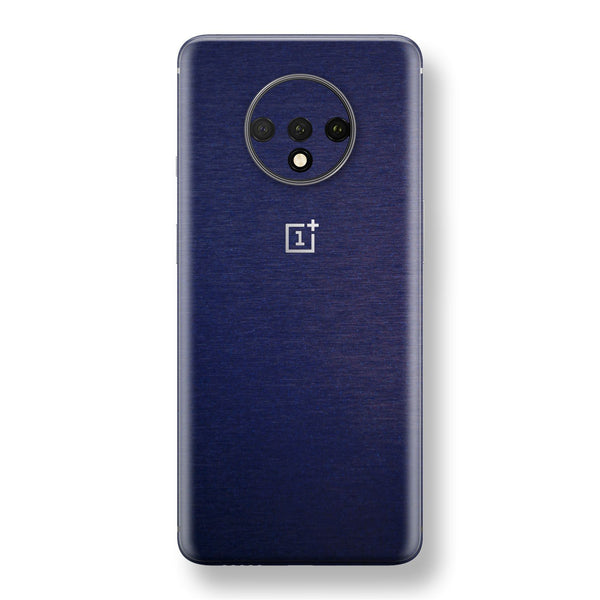 OnePlus 7T Brushed Blue Metallic Metal Skin, Decal, Wrap, Protector, Cover by EasySkinz | EasySkinz.com