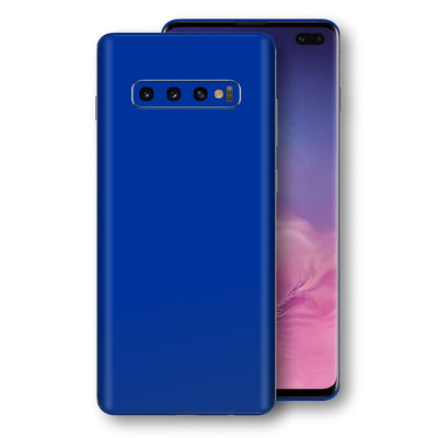 Samsung Galaxy S10+ PLUS Royal Blue Glossy Gloss Finish Skin, Decal, Wrap, Protector, Cover by EasySkinz | EasySkinz.com