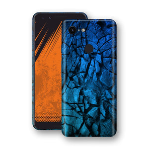 Google Pixel 3 Print Custom Signature Charcoal BLUE Abstract Skin Wrap Decal by EasySkinz