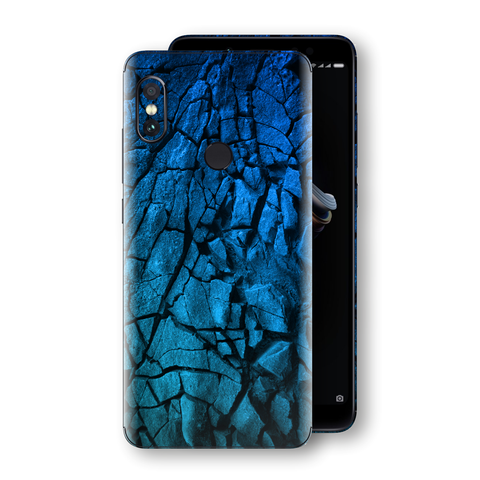 XIAOMI Redmi NOTE 5 Print Custom Signature Charcoal BLUE Abstract Skin Wrap Decal by EasySkinz