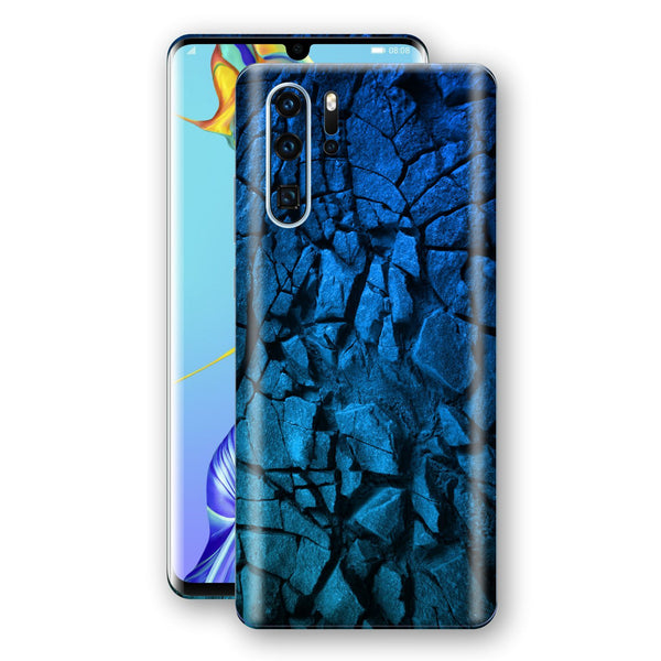 Huawei P30 PRO Print Custom Signature Charcoal BLUE Abstract Skin Wrap Decal by EasySkinz