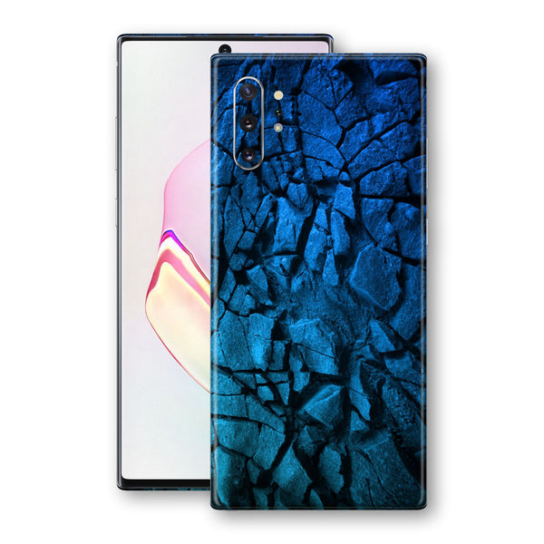 Samsung Galaxy NOTE 10+ PLUS Print Custom Signature Charcoal BLUE Abstract Skin Wrap Decal by EasySkinz