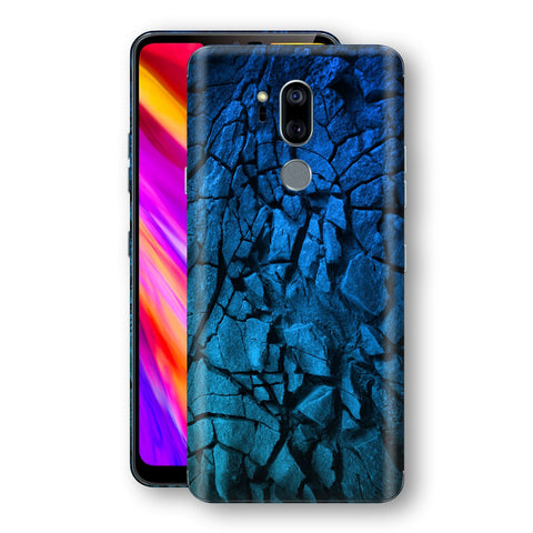 LG G7 ThinQ Print Custom Signature Charcoal BLUE Abstract Skin Wrap Decal by EasySkinz