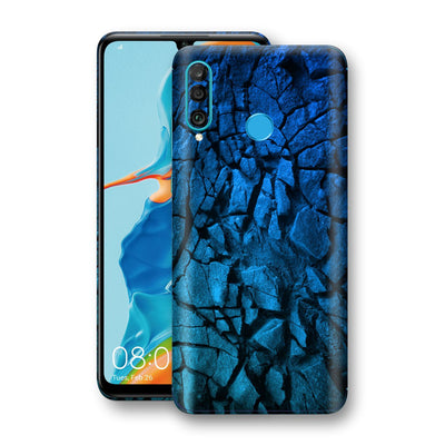 Huawei P30 LITE Print Custom Signature Charcoal BLUE Abstract Skin Wrap Decal by EasySkinz