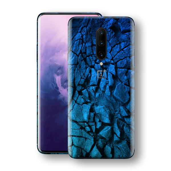 OnePlus 7 PRO Print Custom Signature Charcoal BLUE Abstract Skin Wrap Decal by EasySkinz