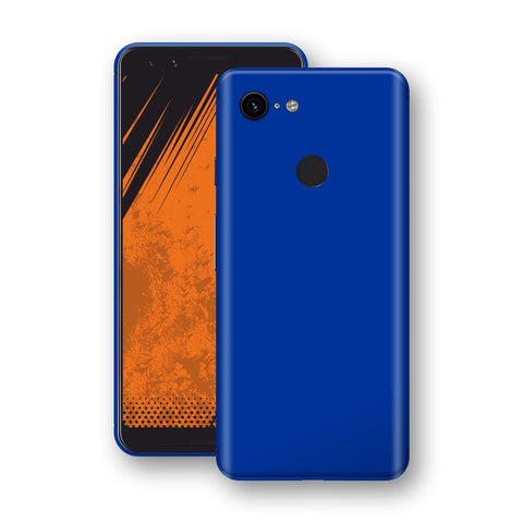 Google Pixel 3 Royal Blue Glossy Gloss Finish Skin, Decal, Wrap, Protector, Cover by EasySkinz | EasySkinz.com