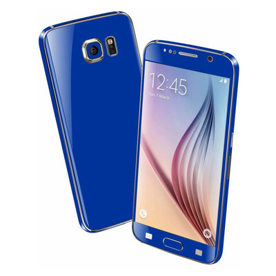 Samsung Galaxy S6 Colorful GLOSS GLOSSY Royal Blue Skin Wrap Sticker Cover Protector Decal by EasySkinz